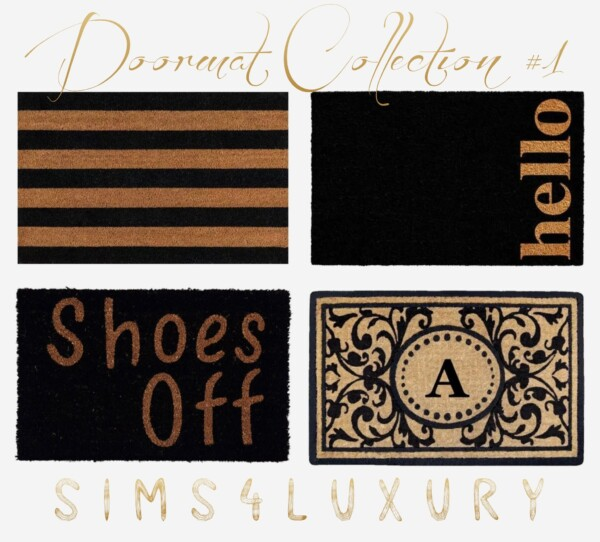 Doormat Collection 1 from Sims4Luxury