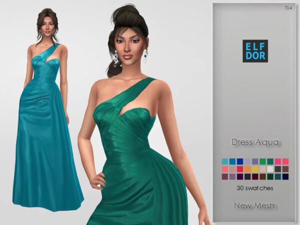 Dress Aqua by Elfdor from TSR