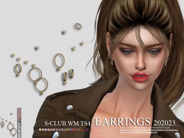 Earrings 202023 by S Club from TSR