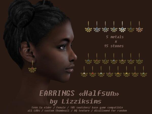Earrings Halfsun from Lizzik Sims