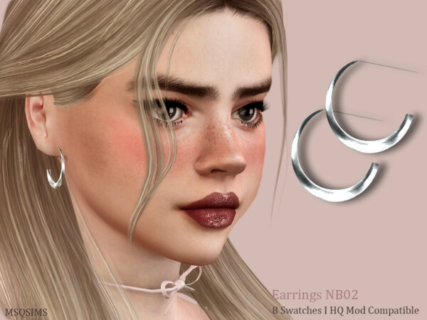 Earrings NB02 from MSQ Sims