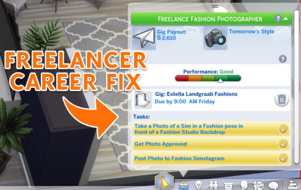 Freelancer career fix by Louisim yt from Mod The Sims