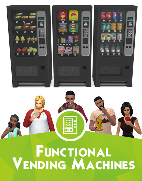 Functional vending machines from Around The Sims 4