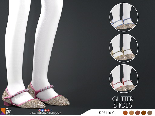 Glitter Shoes from Red Head Sims