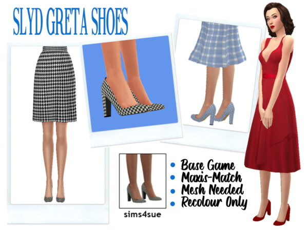 Greta Shoes Recolored from Sims 4 Sue
