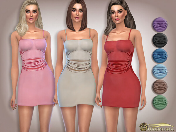 Gathered Side Bodycon Dress by Harmonia from TSR