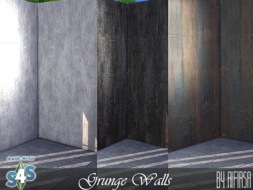 Grunge walls from Aifirsa Sims