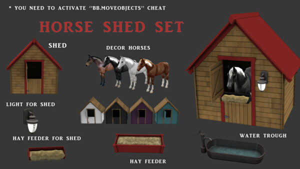 Horse Shed set from Leo 4 Sims