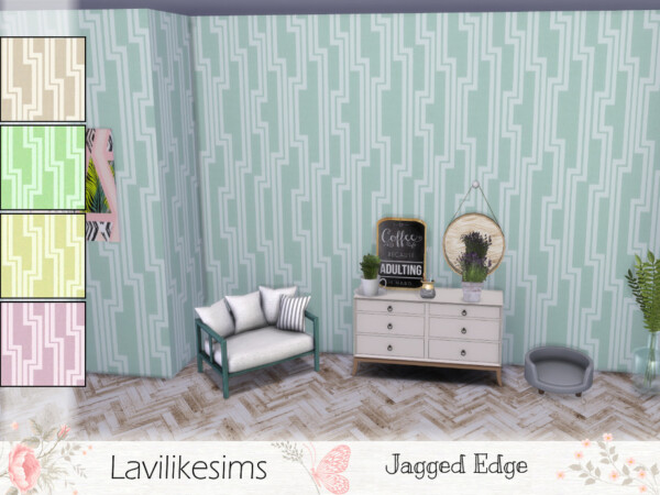 Jagged Edge Walls by lavilikesims from TSR