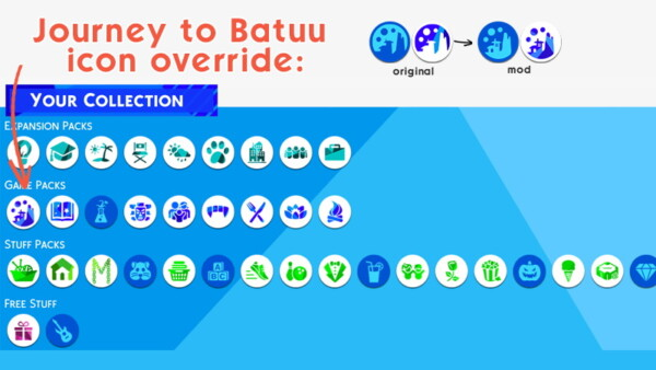 Journey to Batuu icon override by Louisim yt from Mod The Sims