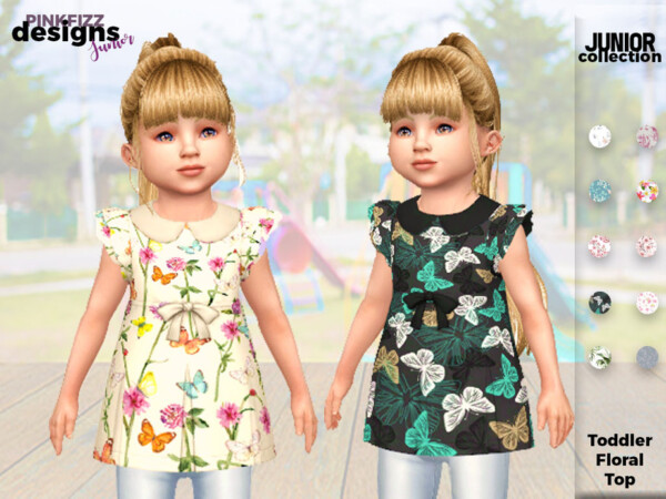 Junior Floral Top by Pinkfizzzzz from TSR