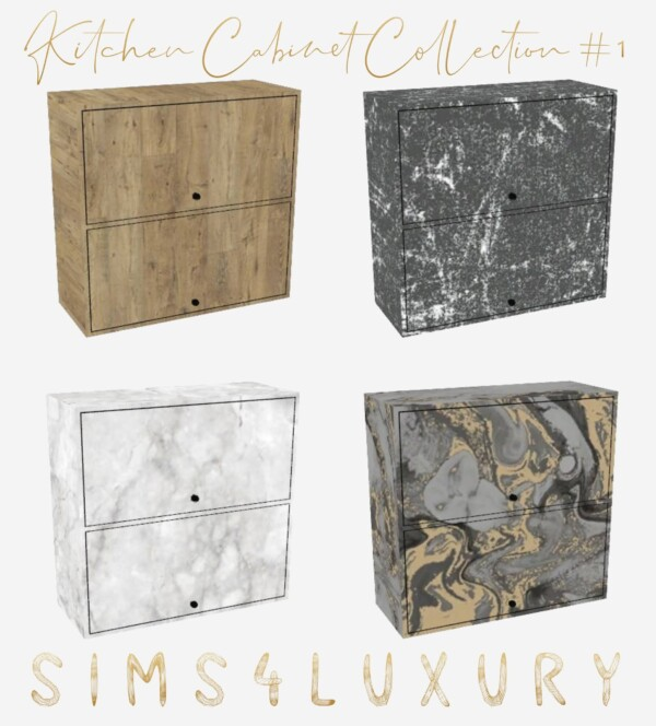 Kitchen Cabinet Collection 1 from Sims4Luxury