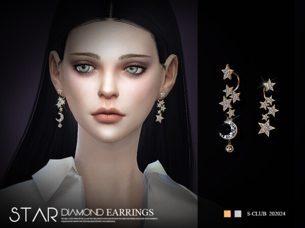 LL Earrings 20224 by S Club from TSR