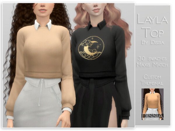 Layla Top by Dissia from TSR