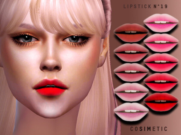 Lipstick N19 by cosimetic from TSR