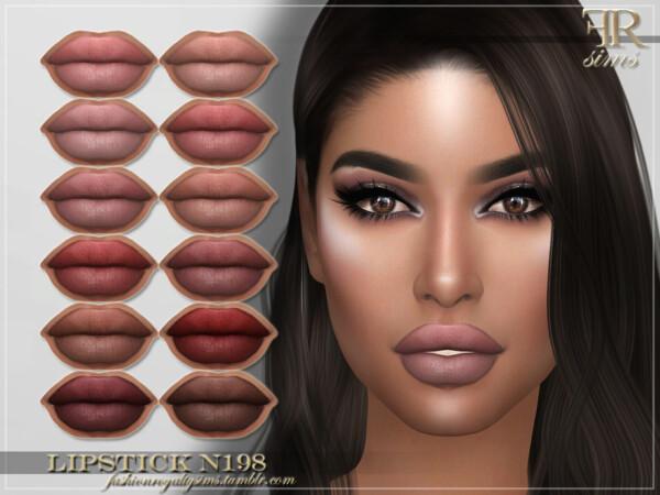 Lipstick N198 by FashionRoyaltySims from TSR