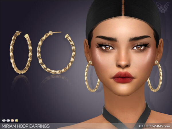 Miriam Hoop Earrings from Giulietta Sims