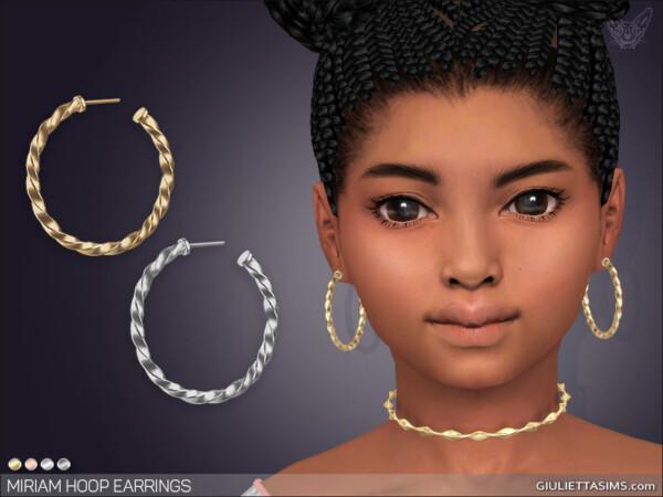 Miriam Hoop Earrings For Girls from Giulietta Sims
