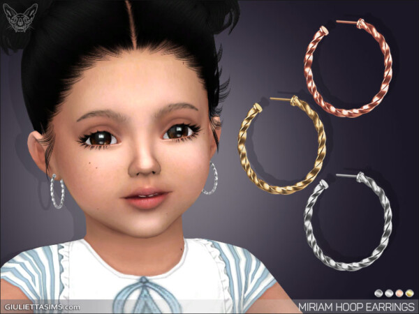 Miriam Hoop Earrings For Little Girls from Giulietta Sims