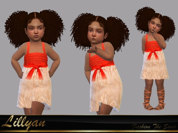 Moana inspired dress by LYLLYAN from TSR