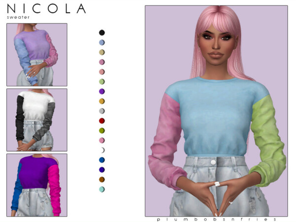 Nicola sweater by Plumbobs n Fries from TSR