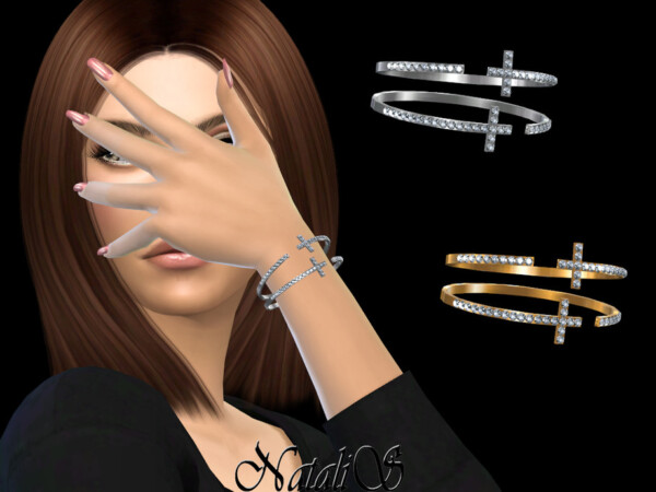 Crystal cross bangle bracelets by  NataliS from TSR