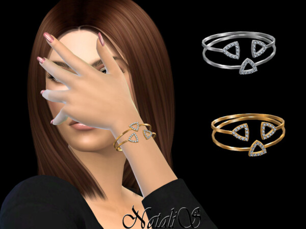 Open triangle halo bracelets by NataliS from TSR