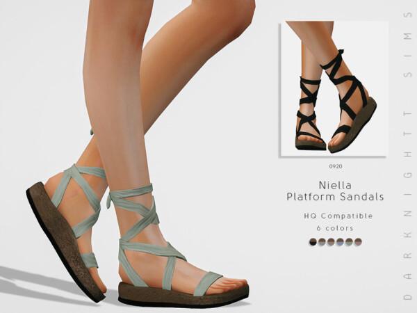 Niella Platform Sandals by DarkNighTt from TSR
