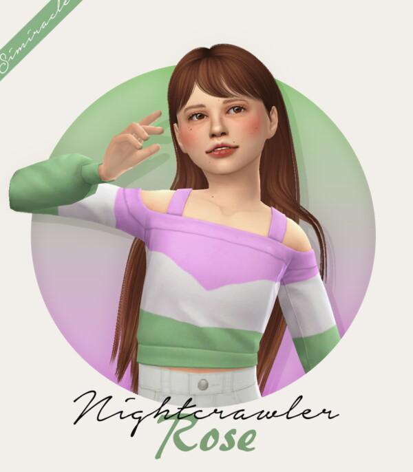Nightcrawler`s Rose hair retetextured from Simiracle