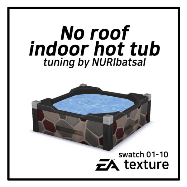 No roof indoor Hot tub by NURIbatsal from Mod The Sims