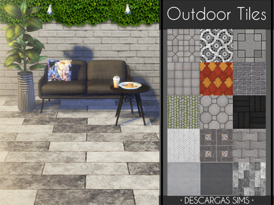 Outdoor Tiles from Descargas Sims