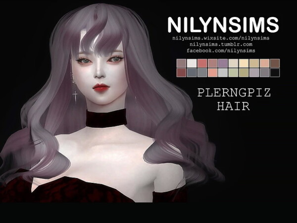 Plerngpiz  hairstyle from Nilyn Sims 4