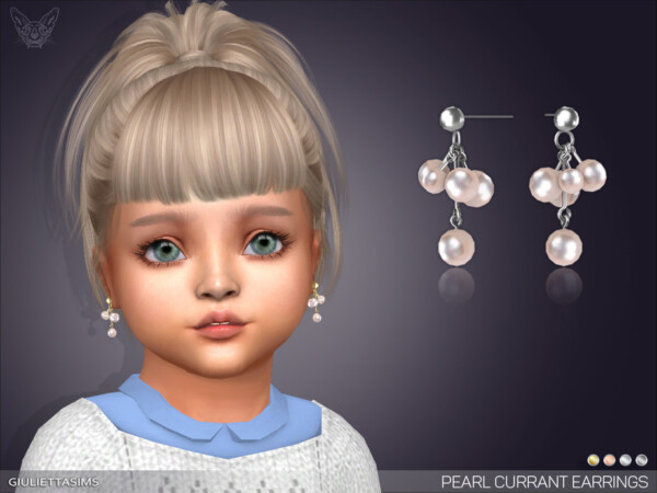 Pearl Currant Earrings For Little Girls by feyona from TSR