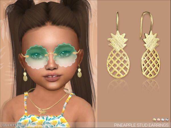 Pineapple Earrings  by feyona from TSR