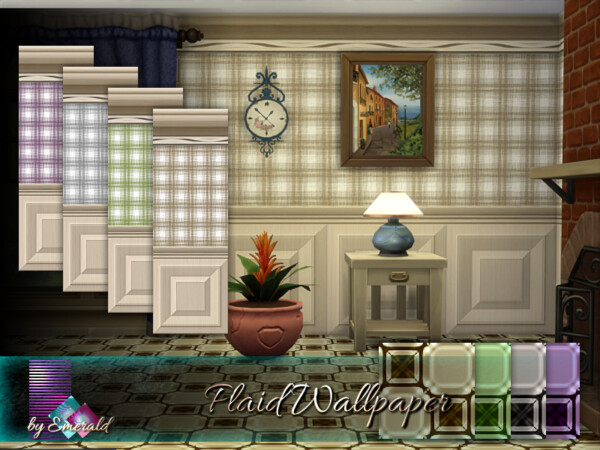 Plaid Wallpaper by emerald from TSR