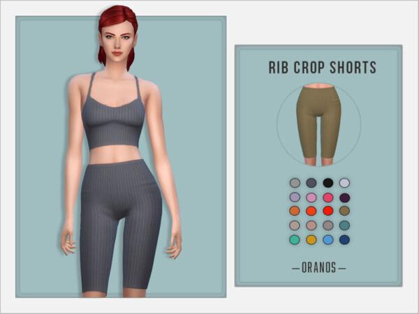 Rib Crop Shorts by OranosTR from TSR