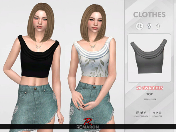 Ruffle Top for Women 01 by remaron from TSR