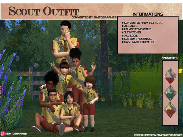 Scout Outfit from Simtographies