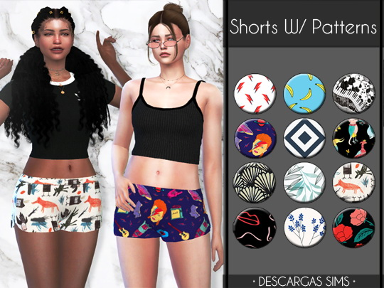 Shorts With Patterns from Descargas Sims