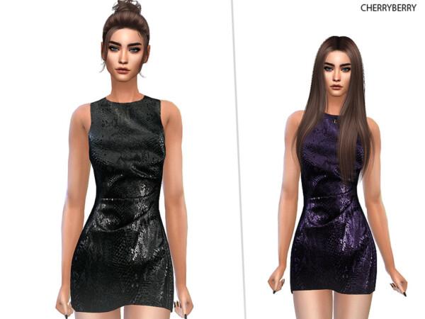 Snakeskin Dress by CherryBerrySim from TSR