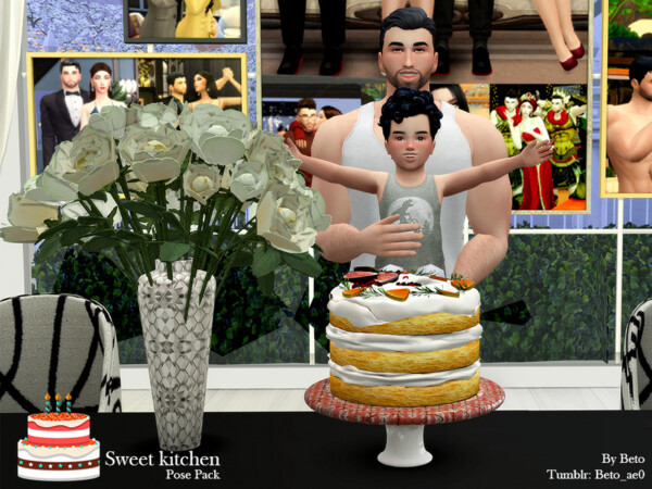 Sweet Kitchen Pose Pack by Beto ae0 from TSR