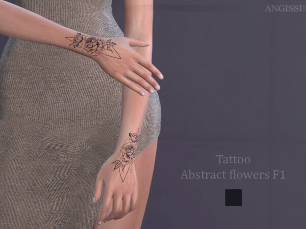 Tattoo Abstract flowers F1 by ANGISSI from TSR