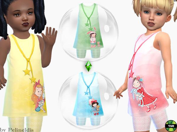 Toddler Dress Cute Girls by Pelineldis from TSR