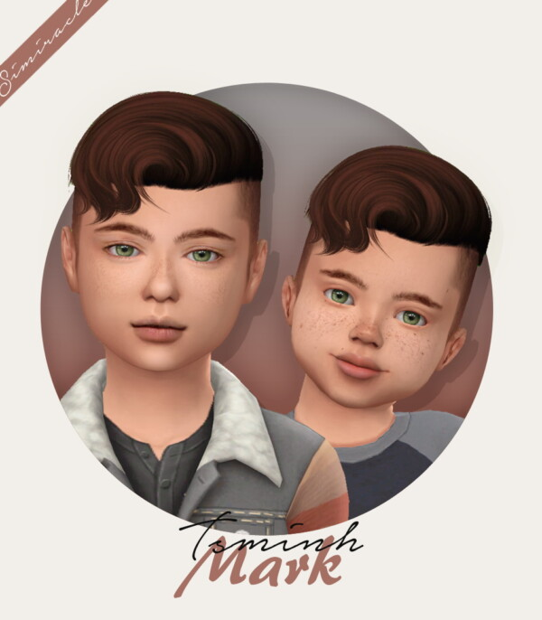 Tsminh`s Mark Hair Retextured from Simiracle