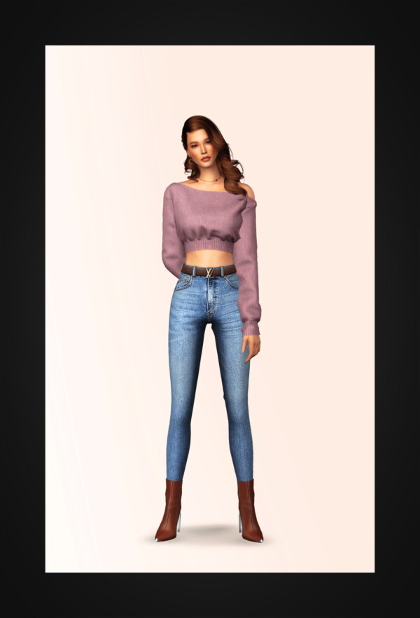Unbalance Cropped Sweater from Gorilla