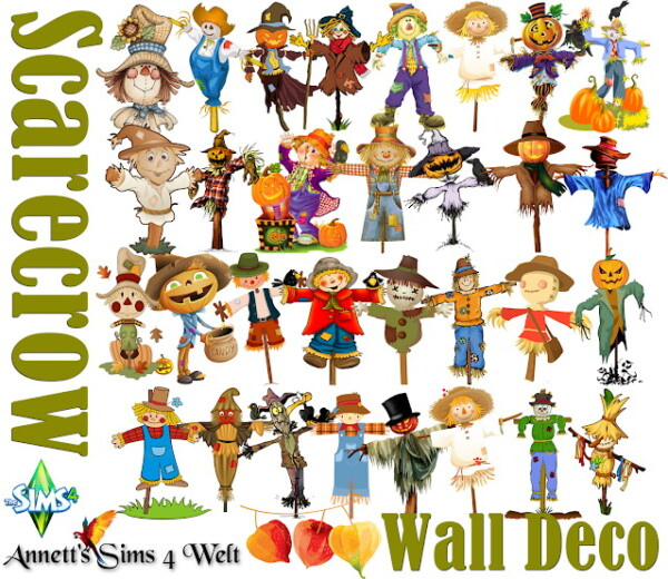 Wall Deco   Scarecrow from Annett`s Sims 4 Welt