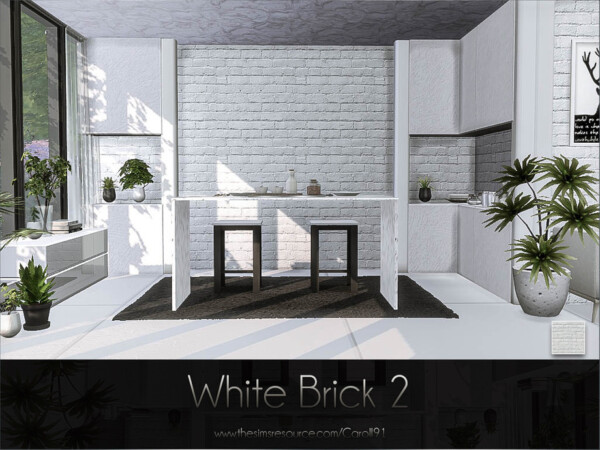 White Brick 2 By Caroll91 From Tsr Sims 4 Downloads