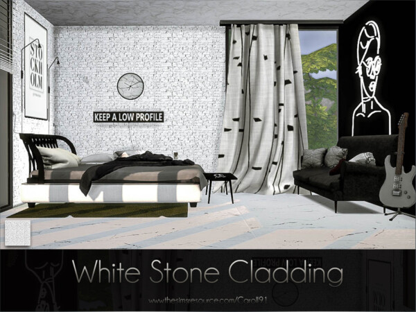 White Stone Cladding by Caroll91 from TSR