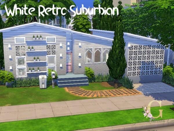 White retro suburbian home by GenkaiHaretsu from TSR