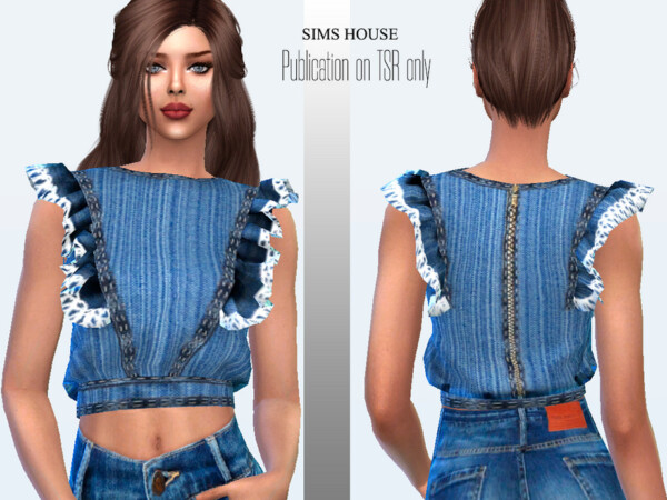 Womens denim blouse by Sims House from TSR